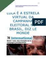 Lula Le Monde 3-9-2018