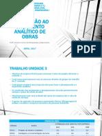 AULA 1_UNIDADE 2_ORÇAMENTO_ANALÍTICO.pptx