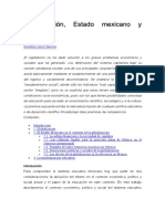 Globalización Estado Mexicano y Educación.pdf