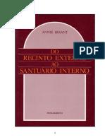 Annie Besant - Do Recinto Externo Ao Santuário Interno.doc