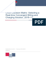 Ovum Decision Matrix-Selecting a Real-time Convergent Billing and Charging Solution