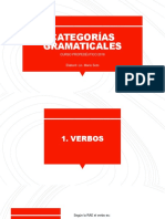Categ Gramaticales VERBO