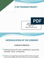 Presentation on Summer Project
