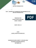 Métodos probabilisticos - Paso 1