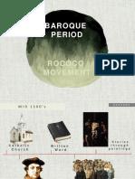 BAROQUE PERIOD and ROCOCO MOVEMENT