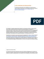 Tipos de Sistemas de Facturación