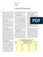 Concrete Construction Article PDF- Types of Portland Cement