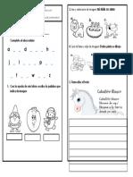 Evaluacion de Español Transicion