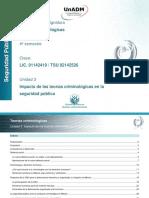 Unidad 3. Impacto de Las Teorías Criminológicas en La Seguridad Pública