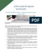 Como escribir tu plan de negocios bussines plan.docx