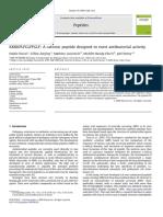KKKKPLFGLFFGLF_ a Cationic Peptide Designed to Exert Antibacterial Activity