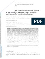 Court It is i Individual Judicial Powers in the Brazilian Supreme Court and Their Implications for Constitutional Theory