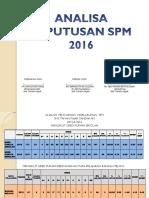 Analysis Keputusan Spm 2016