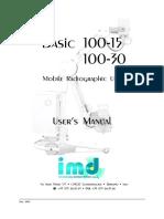 Siemens Basic 100 Mobile X-Ray - User Manual
