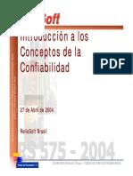 Introducción a Los Conceptos de La Confiabilidad