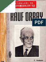 Rauf Orbay - Hatıraları Ve Söylemedikleri - Haz-F.kandemir - Yakın T.yay-1965