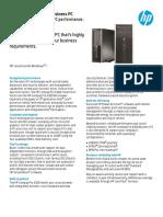 HP Pro 6300 Desktop- Datasheet
