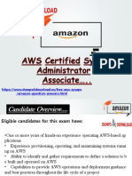 Amazon AWS-SysOps Test Questions And Answers PDF