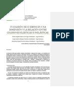 I7.COLISIO N DE CUERPOS EN UNA DIMENSIO N Y LA RELACIO N ENTRE COLISIONES ELA STICAS E INELA STICAS