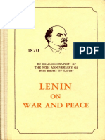 Lenin On War And Peace (Peking