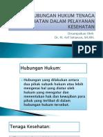 02 Materi Pak Arif Hubungan Hukum Dokter-rs Dg Pasien Dalam Pelayanan Kesehatan