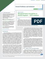 Marginal bone resorption at dental implant – RTG analysis