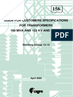 Guide for Customers Specifications for Transformers 100 MVA and 123 KV and Above