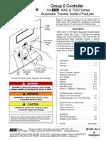 Asco 7000 Series Operators Manual Group 5 Controller