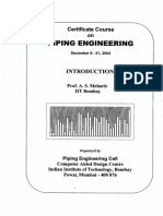 Piping Engineering Course Notes