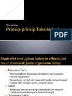 Toksikologi 1-2, Prinsip-prinsip Toksikologi