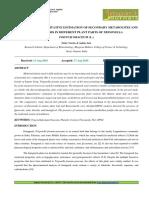 9. Format. App -Comparative Quantitative Estimation of Secondary Metabolites and HPLC Analysis in Different Plant Parts of Trigonella Foenum Graceum _L.