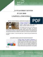 Preguntas Frecuentes Julio 18 - Limpieza Industrial