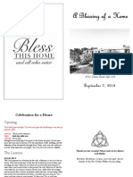 House Blessing Service Booklet