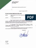 Oficio de Invitación a Los VII Juegos Magisteriales Inter Cebas 2018