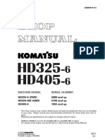 kmoatsu truck HD325-6 HD405-6 shop manual