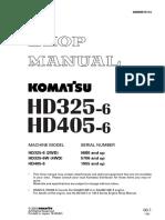 kmoatsu truck HD325-6 HD405-6 shop manual