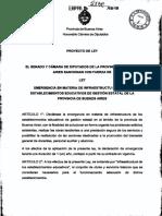 Proyecto Emergencia en Infraestructura Escolar FR