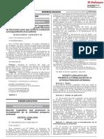 Decreto Legislativo que promueve la formalización de la actividad pesquera artesanal