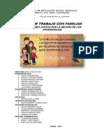 Plan de Trabajo Con Familias 2017