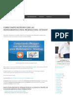 Conectanto Blogger Con Las Herramientas Para Webmasters. Sitemap