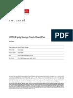 ValueResearchFundcard HDFCEquitySavingsFund DirectPlan 2018Sep01