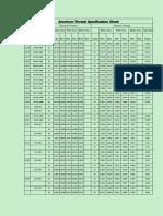 American Light Screw Socket Thread Specification Sheet
