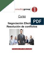 Curso Negociación Efectiva y Resolución de Conflictos- First Consulting Group