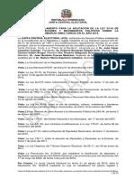 Proyecto de Reglamento para Aplicación de la Ley 33 18 sobre Primarias Simultáneas 2019