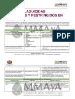 Lista Plaguicidas Prohibidos Restringidos en Bolivia