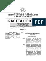 Gaceta 71 Ordenanza Regulacion Procesos Ambientales Municipio