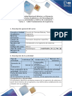 Guía de Actividades y Rúbrica de Evaluación Tarea 1 - Taller Fundamentos de Ingeniería