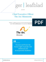Executive Position Profile - The Arc Minnesota - CEO