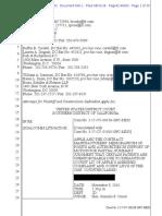 18-08-31 Apple Et Al. Motion for Partial Summary Judgment
