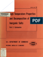 High Temperature Properties and Decomposition of Inorganic Salts Pt.1. Carbonates